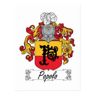 Escudo de la familia de Popolo Tarjetas Postales