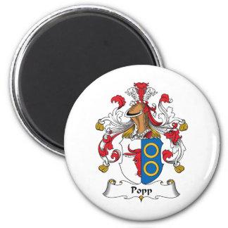 Escudo de la familia de Popp Imán Redondo 5 Cm