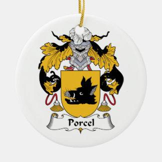Escudo de la familia de Porcel Ornamentos De Navidad