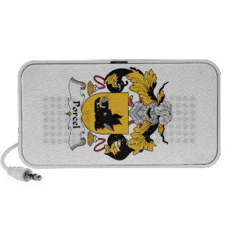 Escudo de la familia de Porcel Laptop Altavoces