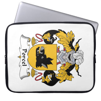Escudo de la familia de Porcel Manga Portátil