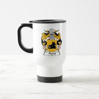 Escudo de la familia de Porcel Taza De Café