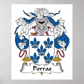 Escudo de la familia de Porras Impresiones