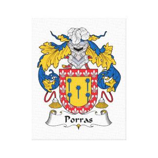 Escudo de la familia de Porras Lona Envuelta Para Galerías