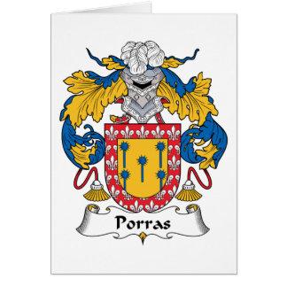 Escudo de la familia de Porras Tarjeta De Felicitación