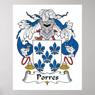 Escudo de la familia de Porres Poster