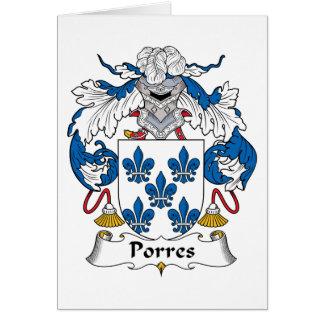 Escudo de la familia de Porres Tarjeta De Felicitación