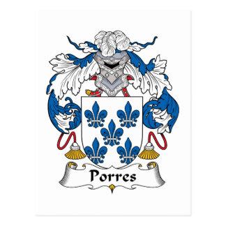 Escudo de la familia de Porres Postal