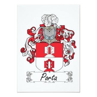 Escudo de la familia de Porta Invitación 12,7 X 17,8 Cm