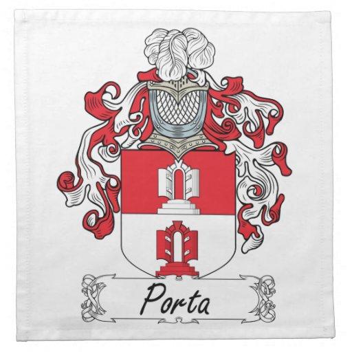 Escudo de la familia de Porta Servilletas Imprimidas