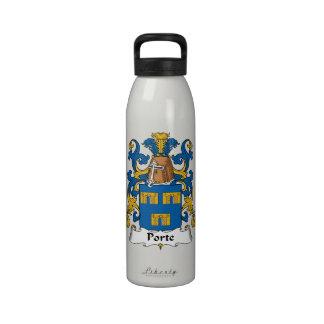 Escudo de la familia de Porte Botellas De Agua Reutilizables