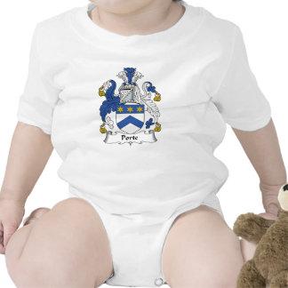 Escudo de la familia de Porte Traje De Bebé