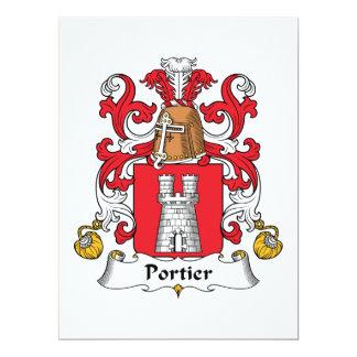 """Escudo de la familia de Portier Invitación 6.5"""" X 8.75"""""""