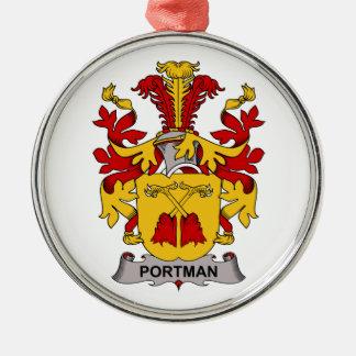 Escudo de la familia de Portman Adorno De Navidad