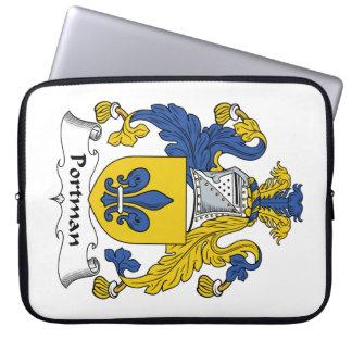 Escudo de la familia de Portman Funda Portátil