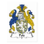 Escudo de la familia de poste postal