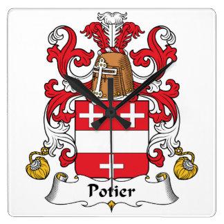 Escudo de la familia de Potier Reloj