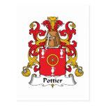 Escudo de la familia de Pottier Postal