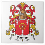 Escudo de la familia de Pottier Tejas Ceramicas