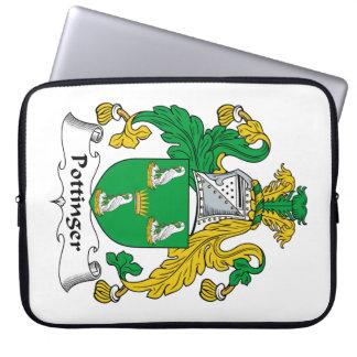 Escudo de la familia de Pottinger Funda Computadora