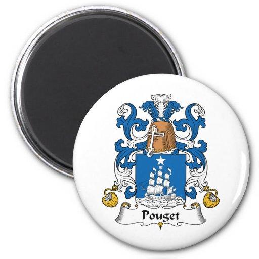 Escudo de la familia de Pouget Imanes Para Frigoríficos