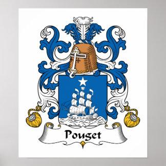 Escudo de la familia de Pouget Impresiones