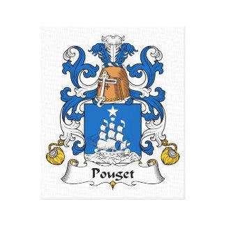 Escudo de la familia de Pouget Impresión En Lienzo Estirada