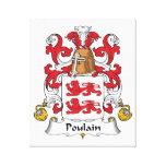 Escudo de la familia de Poulain Impresiones En Lona