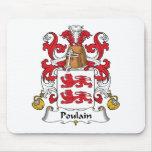 Escudo de la familia de Poulain Alfombrillas De Ratón