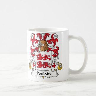 Escudo de la familia de Poulain Taza