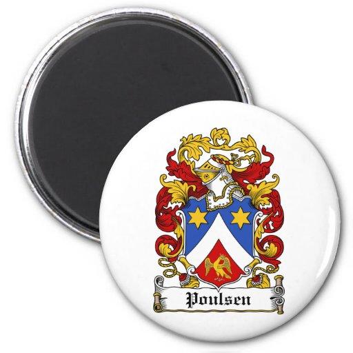 Escudo de la familia de Poulsen Imán De Frigorífico