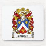Escudo de la familia de Poulsen Tapetes De Raton