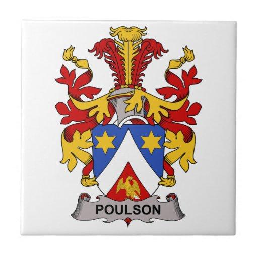 Escudo de la familia de Poulson Tejas Cerámicas