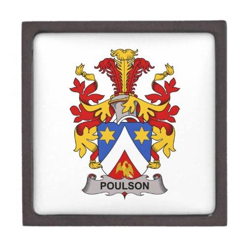 Escudo de la familia de Poulson Cajas De Regalo De Calidad