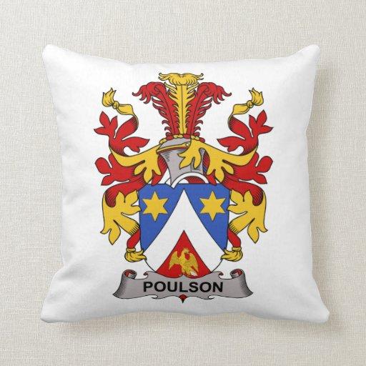 Escudo de la familia de Poulson Almohada