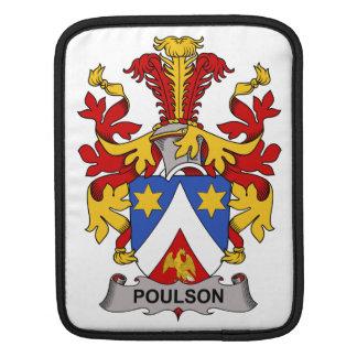 Escudo de la familia de Poulson Mangas De iPad