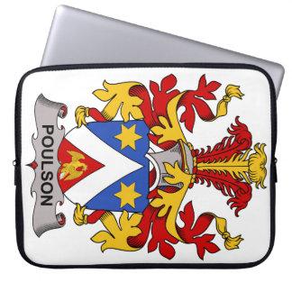 Escudo de la familia de Poulson Fundas Ordendadores