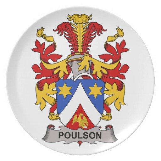Escudo de la familia de Poulson Platos