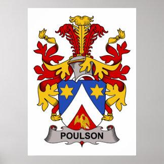 Escudo de la familia de Poulson Poster