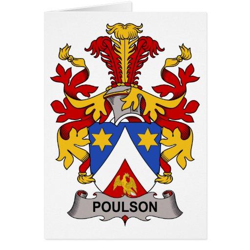 Escudo de la familia de Poulson Tarjeta De Felicitación