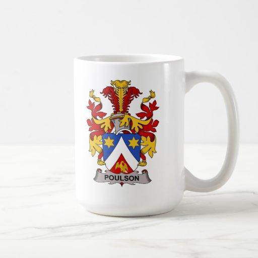 Escudo de la familia de Poulson Taza De Café