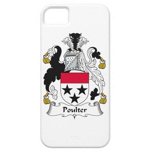 Escudo de la familia de Poulter iPhone 5 Case-Mate Funda