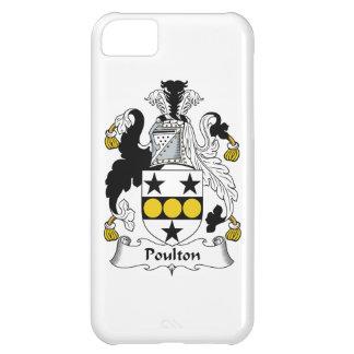 Escudo de la familia de Poulton Funda Para iPhone 5C