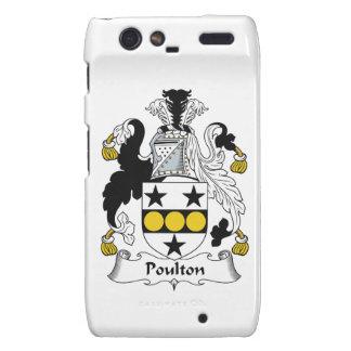 Escudo de la familia de Poulton Motorola Droid RAZR Carcasas