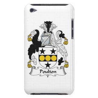 Escudo de la familia de Poulton iPod Case-Mate Fundas
