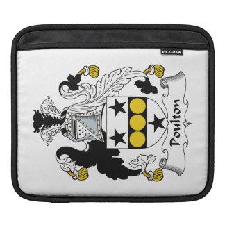 Escudo de la familia de Poulton Fundas Para iPads