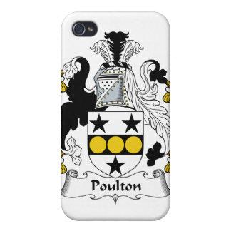 Escudo de la familia de Poulton iPhone 4 Fundas
