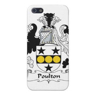 Escudo de la familia de Poulton iPhone 5 Carcasa