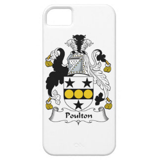 Escudo de la familia de Poulton iPhone 5 Fundas
