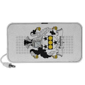 Escudo de la familia de Poulton iPod Altavoces